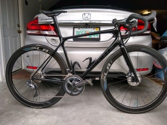 Graphite Bike frame painted gloss black