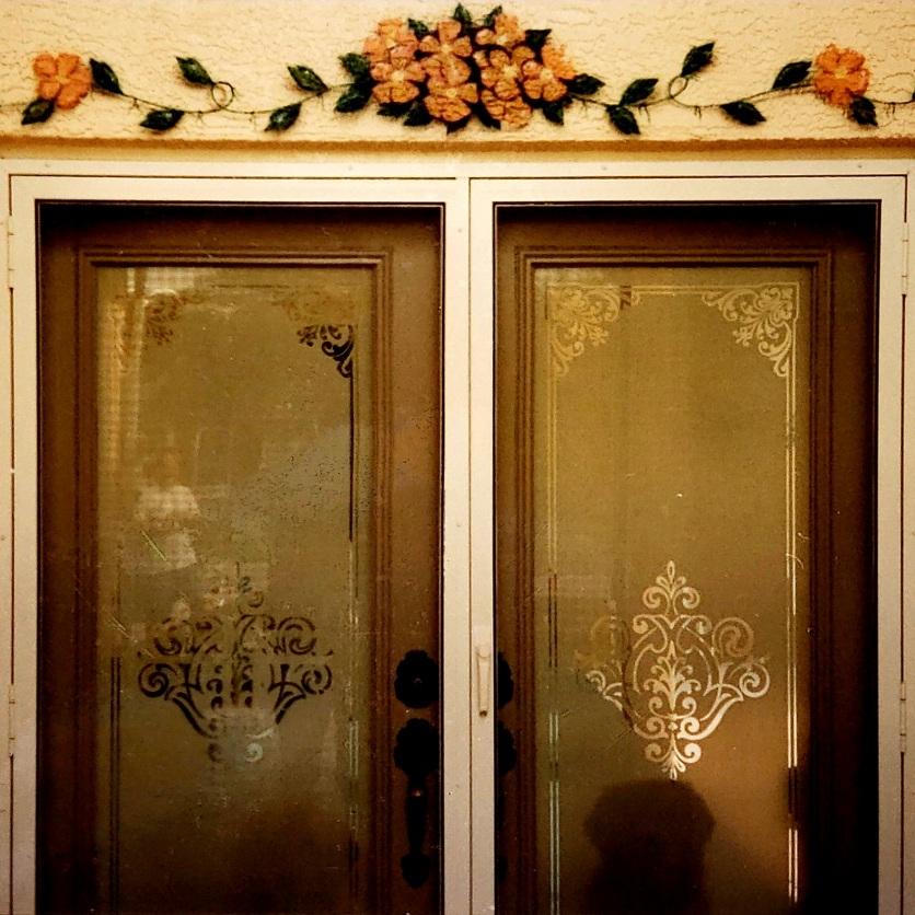 Floral Design above doorway