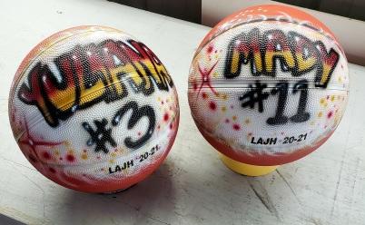 Airbrushed Basketballs