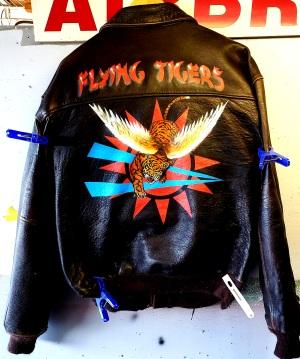 airbrushed bomber jacket