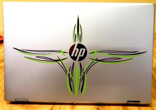 Laptop PC pinstriped