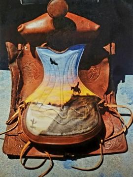 Airbrushed Horse Saddle