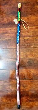 Airbrushed Walking Stick