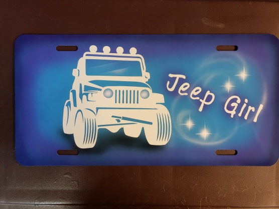 Jeep Auto Tag design