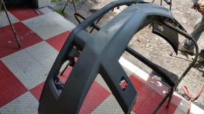 Caddy body work on bumper