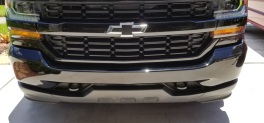 Chevy dented bumper before and after pics