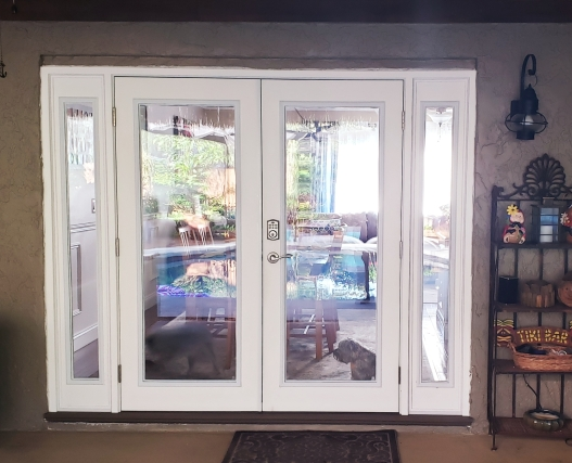 French doors before