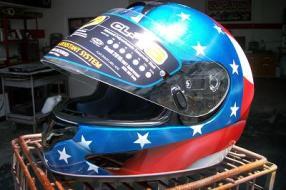 Bike helmet patriotic