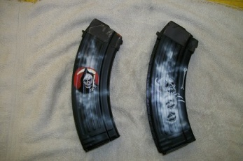 AK 47 magazines airbrushed