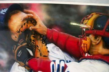 Baseball collectable art