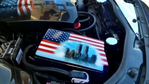 Camaro Fuse box cover airbrushed with 9/11 theme