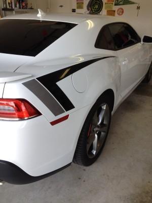 Painted graphics on 2014 Camaro