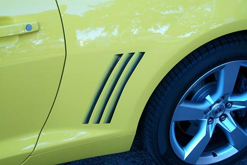 Airbrushed vents on new Camaro