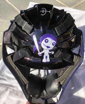 Girls Catcher Helmet for VOODOO team