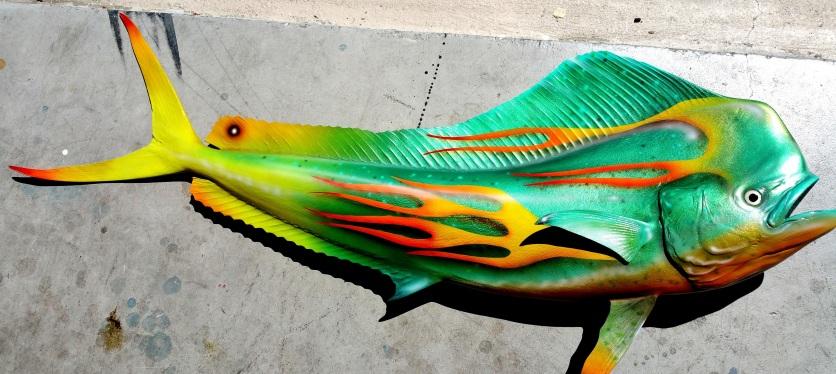 Airbrushed fish mount.