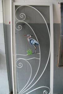Scrren door frame airbrushed