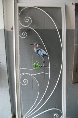 Scrren door frame airbrushed