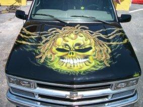 Hood on SUV
