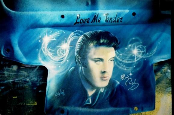 Elvis on Hood Liner