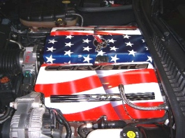 Corvette engine cover