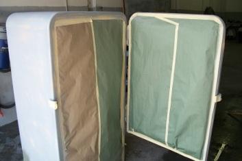 Old fashion fridge prepped