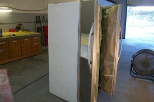 Modern fridge prepped