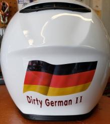 Bike Helmet/ German flag and lettering