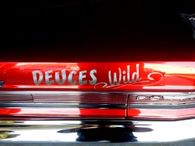 Airbrushed Lettering on GTO deck