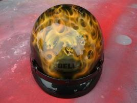 Airbrushed fire and skulls