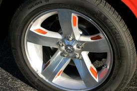 Rim drops painted to match car body