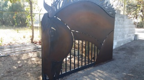 Horse gate after