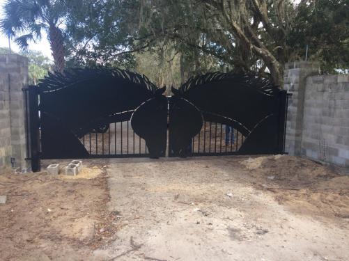Horse gate before