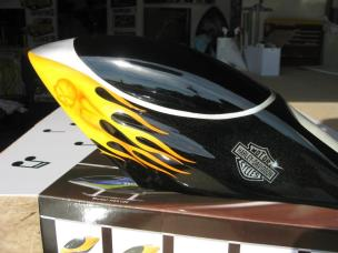 RC Helicopter body airbrushed