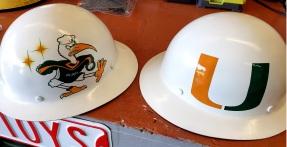 Miami Hurricane Hard Hats