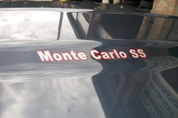 Airbrushed Lettering on hood