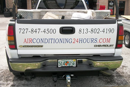 AC Company Tailgate lettering