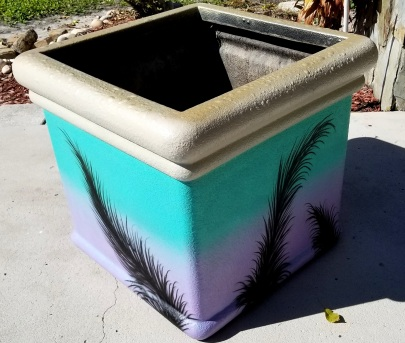 Large Planter Airbrushed