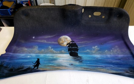 pirate Mural on Trunk Liner