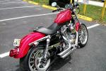 Bike was silver, now candy red