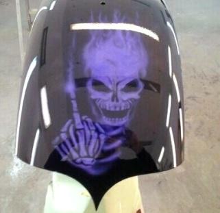 Candy Skull on rear fender