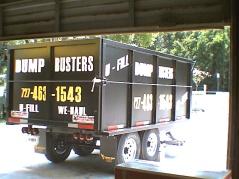Lettering on dump trailer