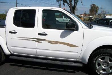 Graphic fade on truck side