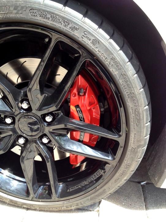 Vette Breaks painted red