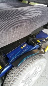 pinstripes on motorized wheel chair