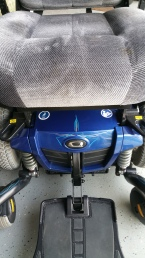 pinstripes on motorized wheel chair