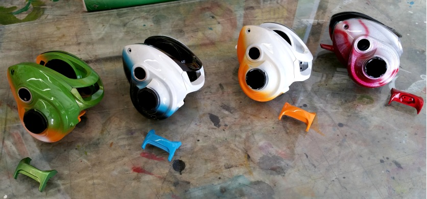 Airbrushed reels for 13 fishing co