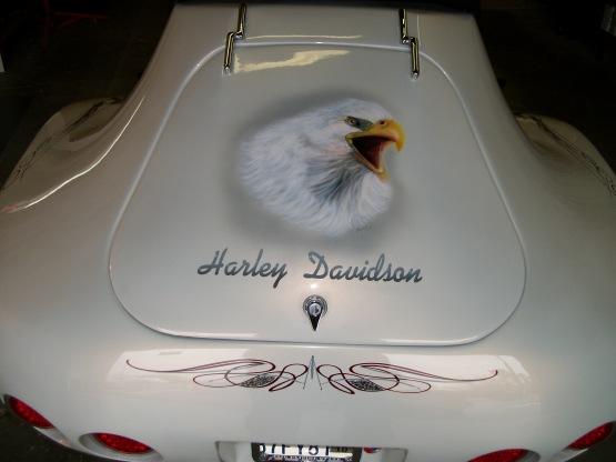 Eagle head and stripes on Trike
