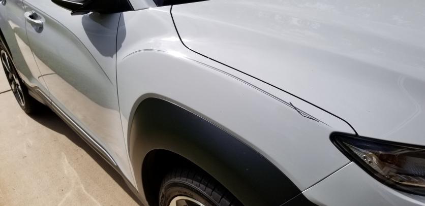 Stripes on Hyundai SUV