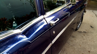 Single silver pinstripe-57 Chevy