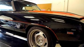 69 Camaro Pace Car. Orange Pinstripes